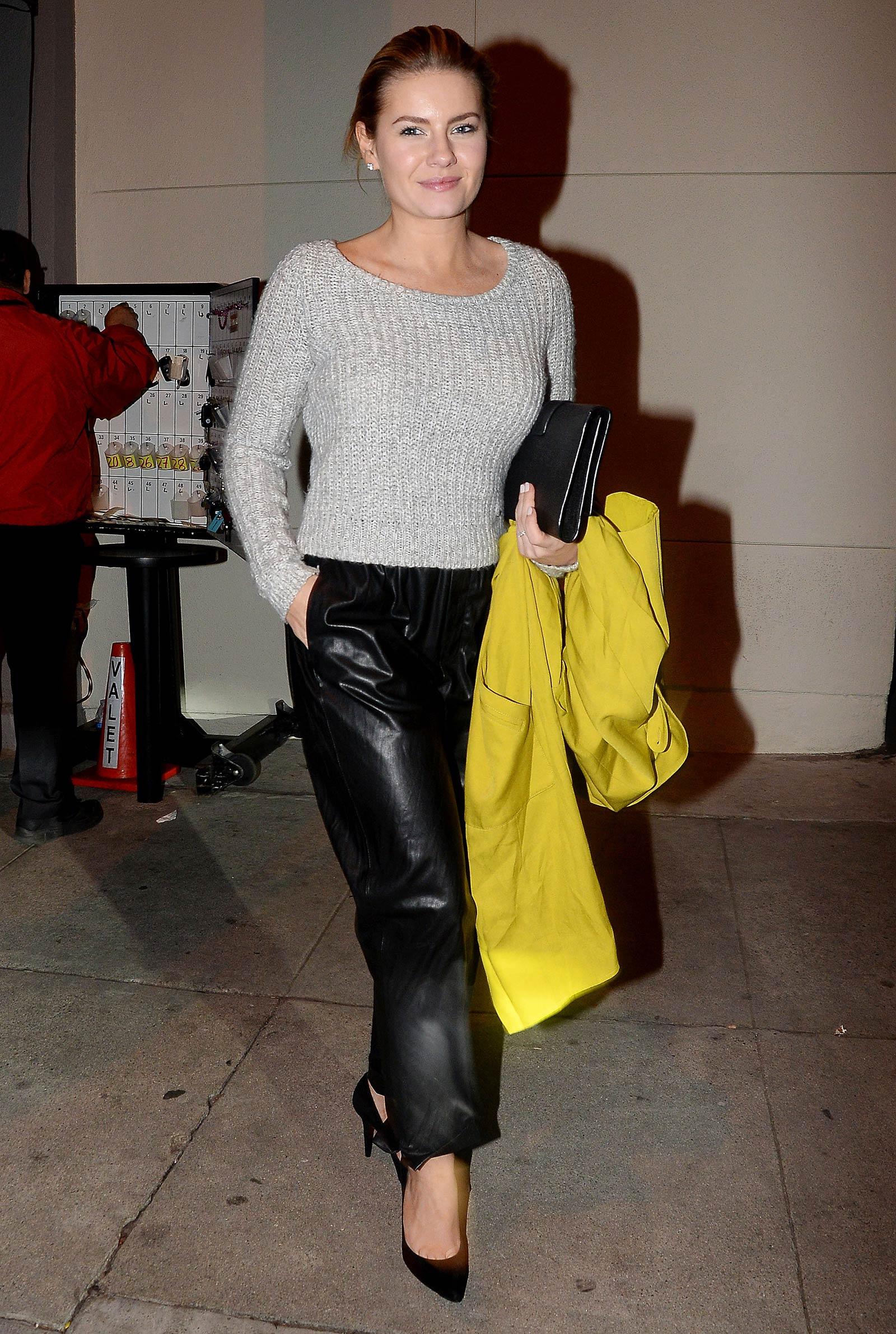 Elisha Cuthbert seen leaving Craig's Restaurant