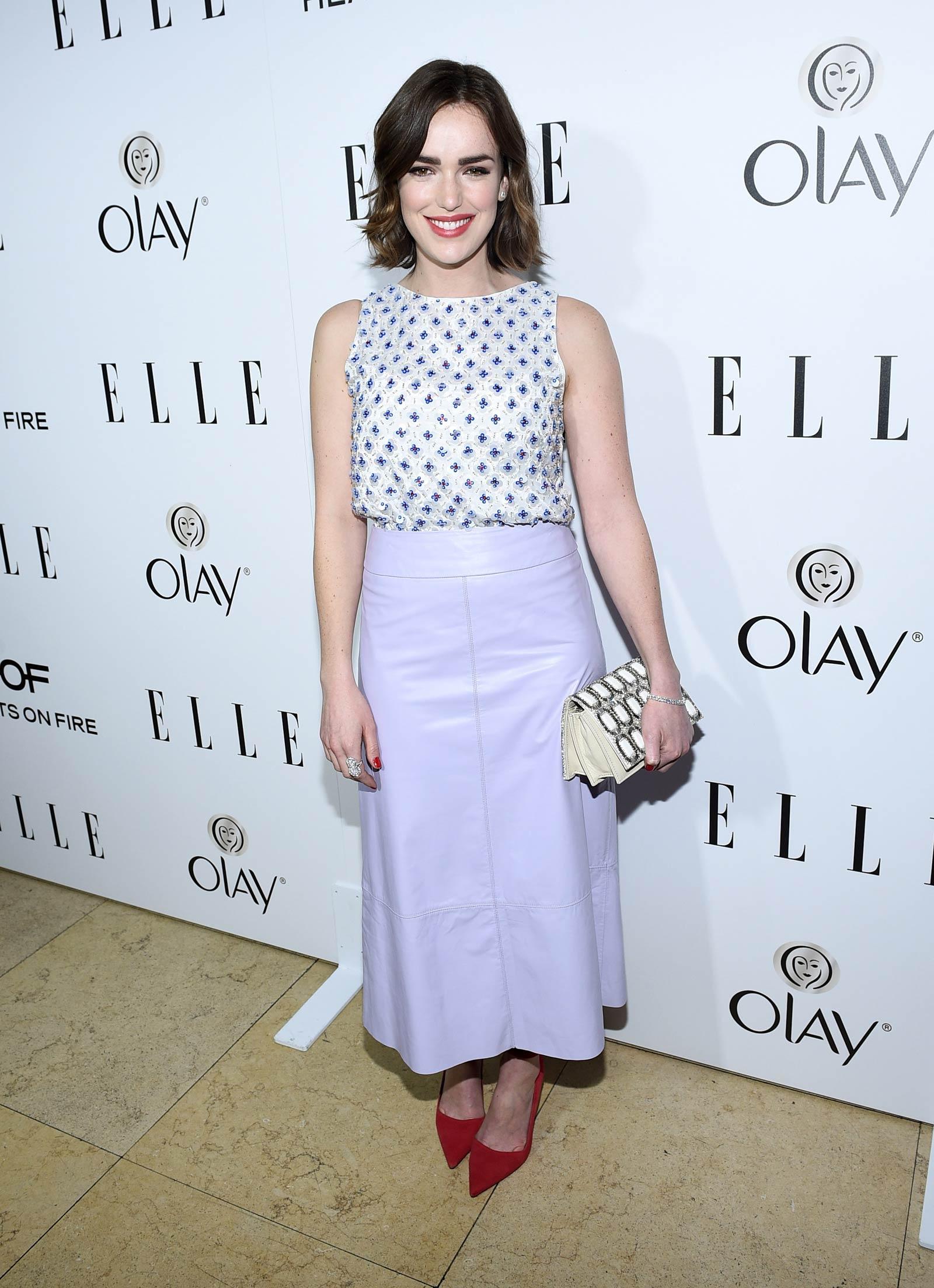 Elizabeth Henstridge attends ELLE's Annual Women in Television Celebration