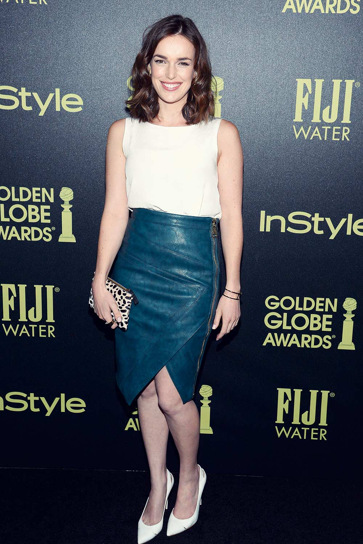 Elizabeth Henstridge attends HFPA And InStyle Celebrate The 2016 Golden Globe Award Season
