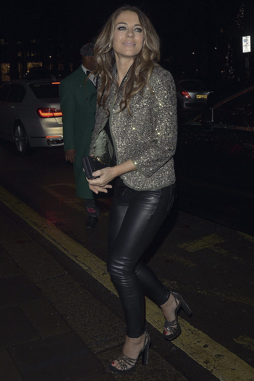 Elizabeth Hurley attends Annabels Private Members Club