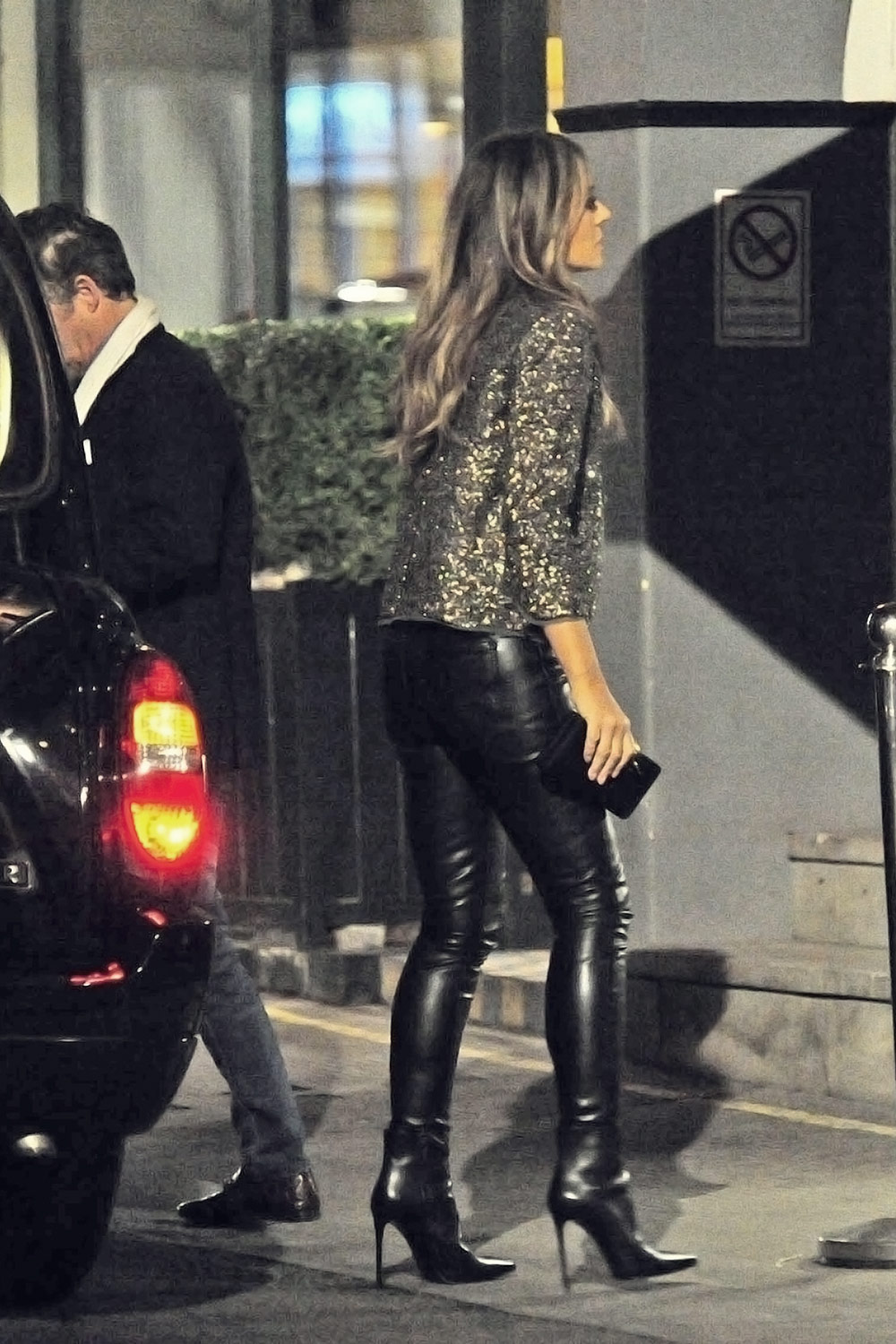 Elizabeth Hurley night out in London