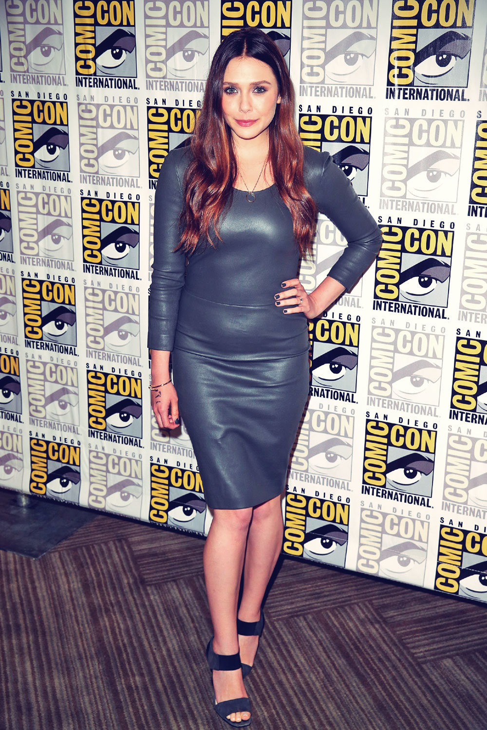 Elizabeth Olsen attends Avengers Age of Ultron Press Line at Comic-Con