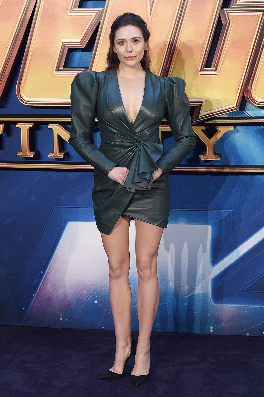 Elizabeth Olsen attends Avengers: Infinity War fan screening