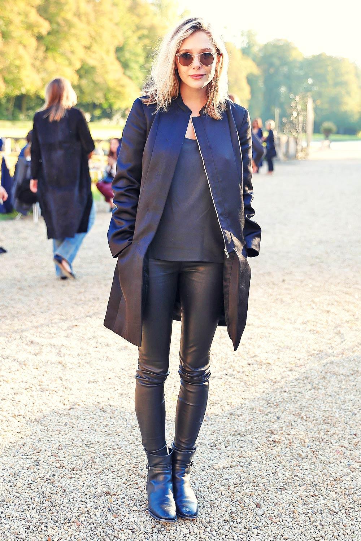 Elizabeth Olsen attends The Row Fashion Show at Paris Fashion Week
