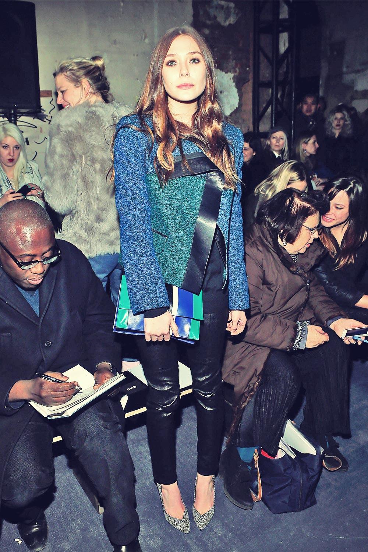 Elizabeth Olsen attends the Proenza Schouler fall 2013 fashion show
