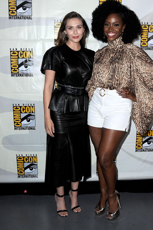 Elizabeth Olsen attends Marvel presentation at Comic Con