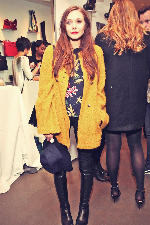 Elizabeth Olsen attends Mercedes-Benz Fashion Week