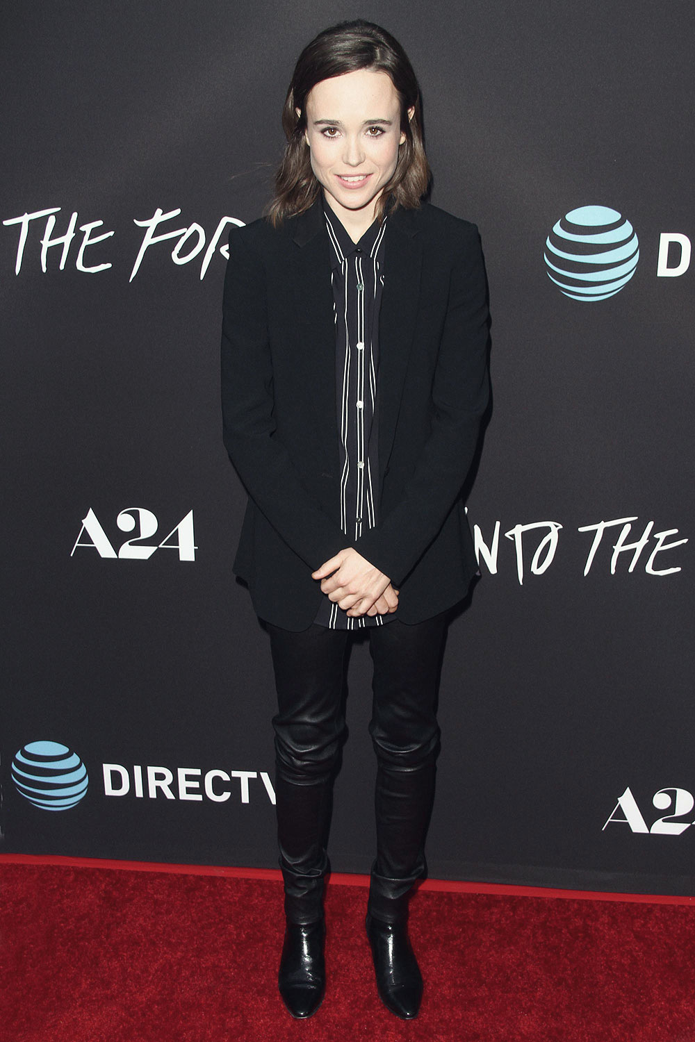 Ellen Page Attends A24 Into The Forest Premiere Leather