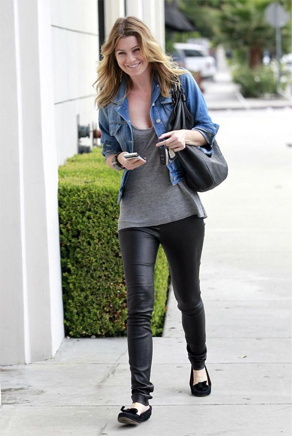 Ellen Pompeo shopping in Los Angeles