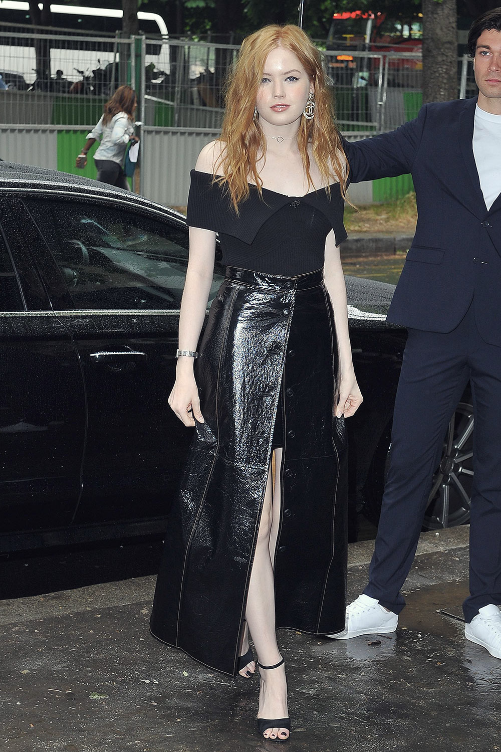 Ellie Bamber attends Chanel Cruise Collection