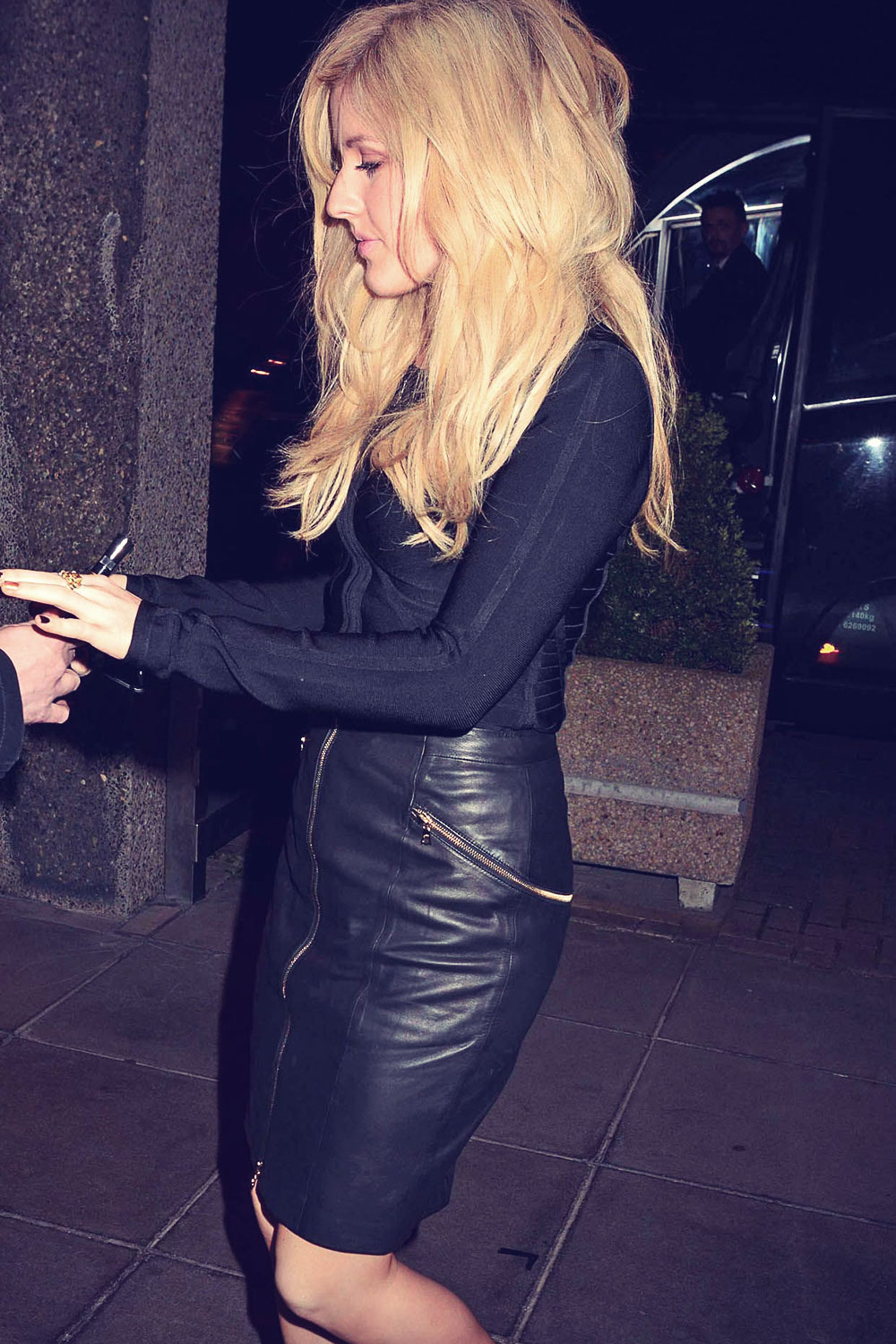Ellie Goulding arriving at RTE studios for The Late Late Show