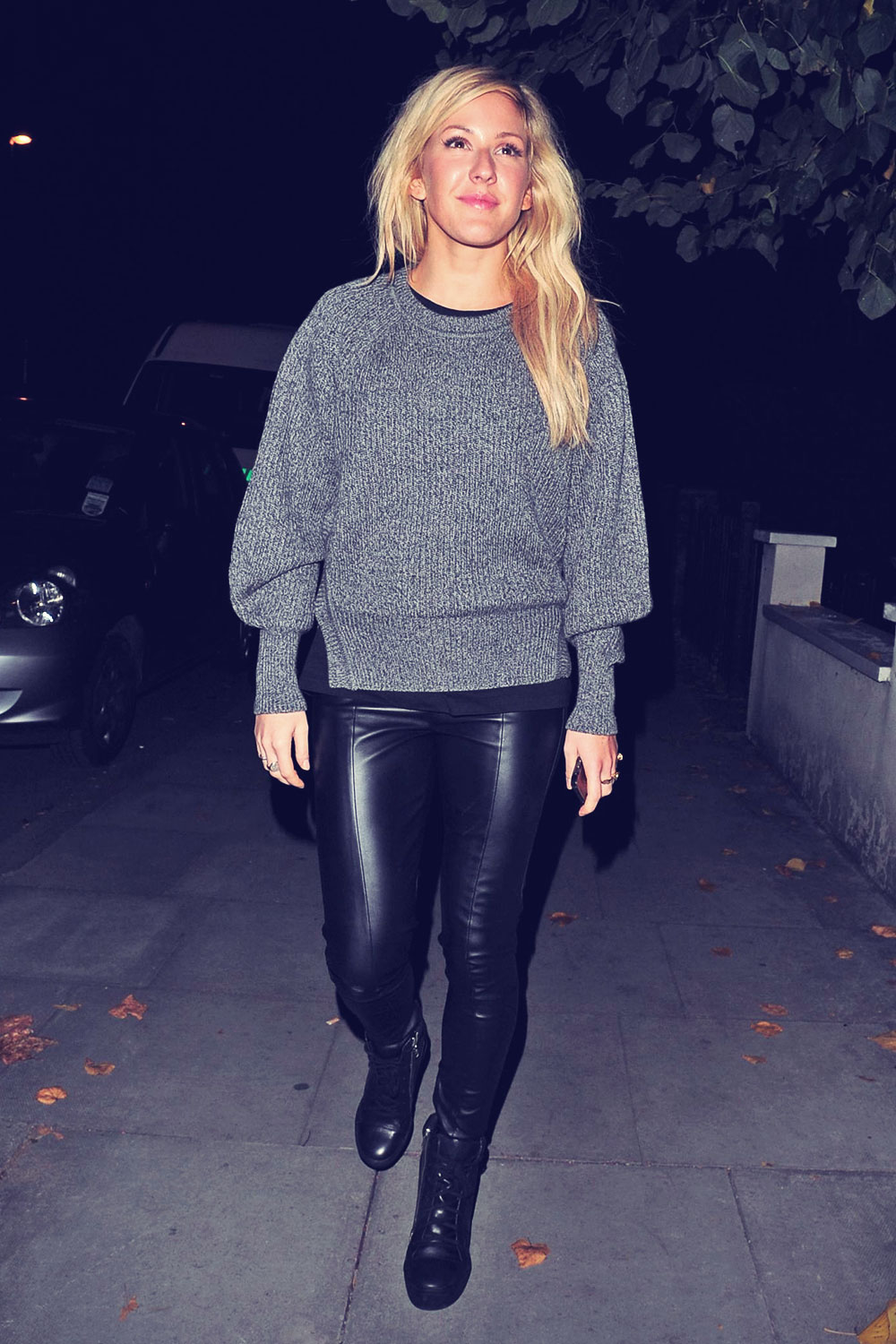 Ellie Goulding leaving a pub in London