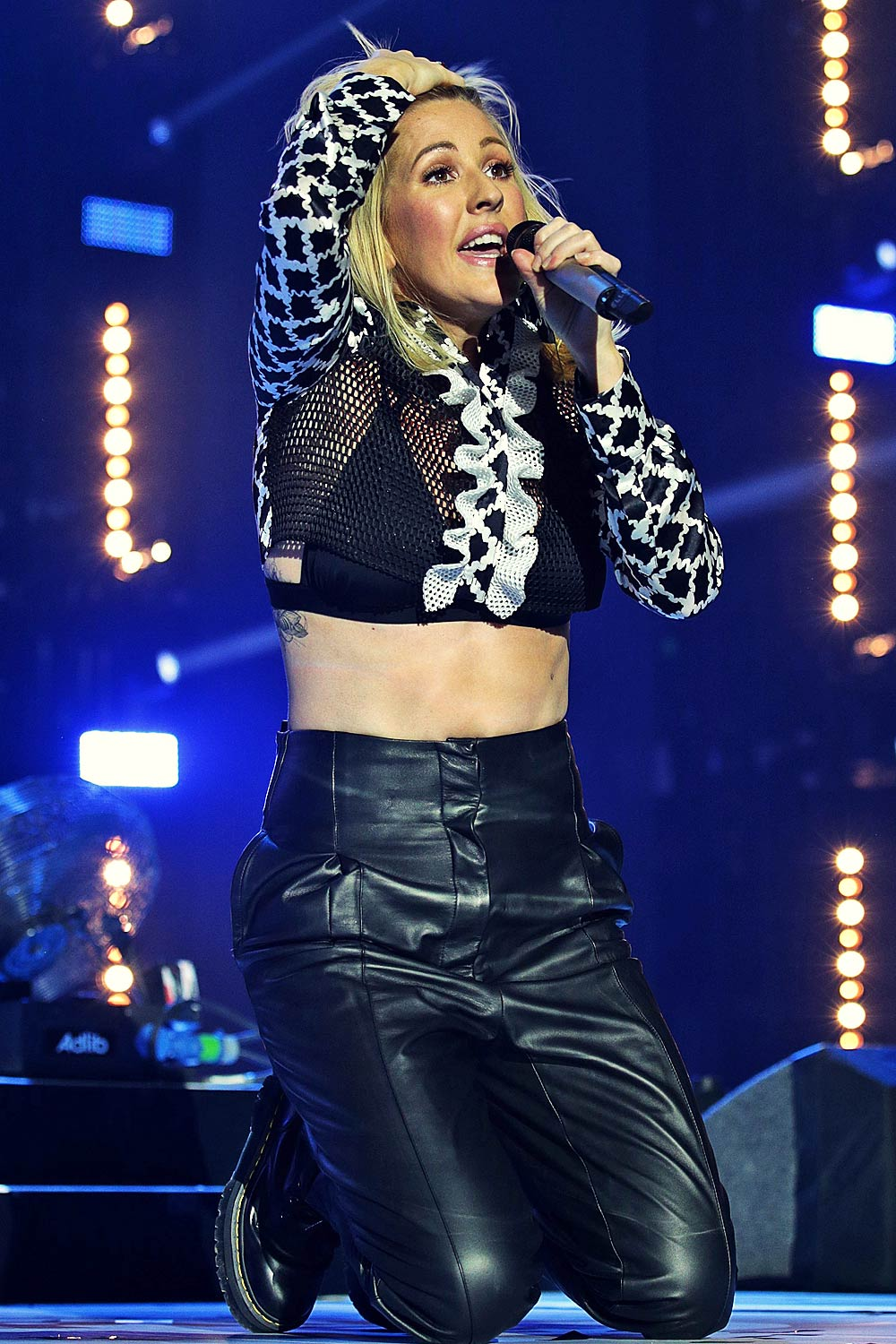 Ellie Goulding Performs At Jingle Bell Ball 2015 Leather