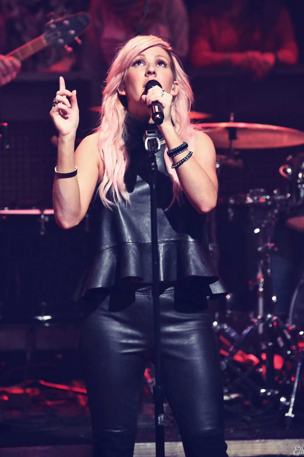 Ellie Goulding at Late Night With Jimmy Fallon