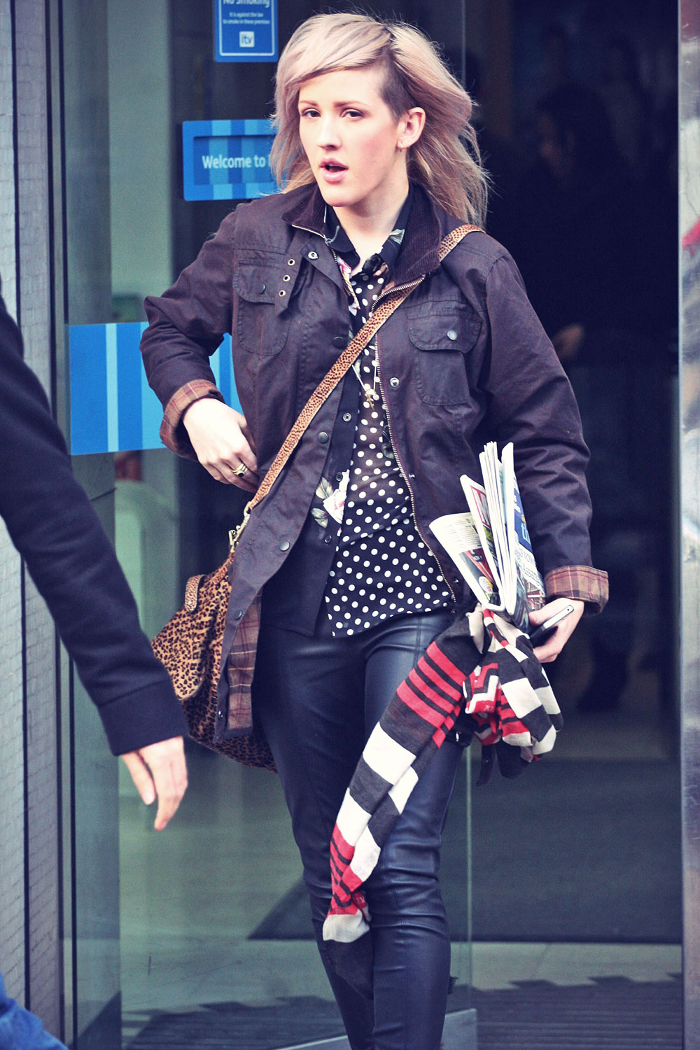 Ellie Goulding leaving the ITV Studios