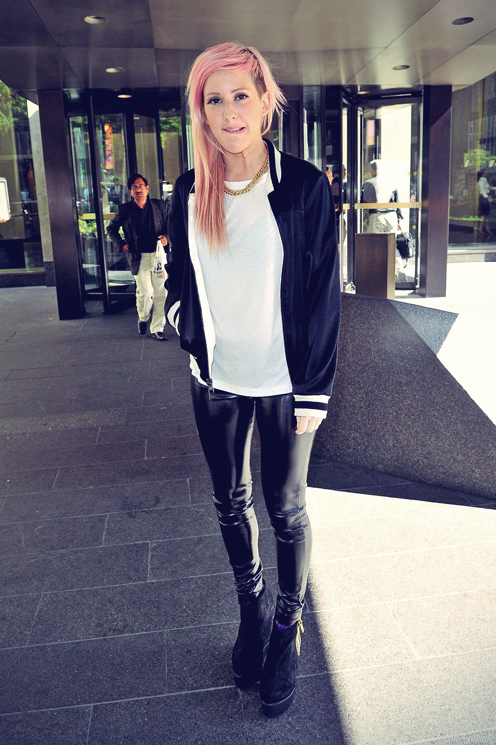 Ellie Goulding outside Sirius Studios