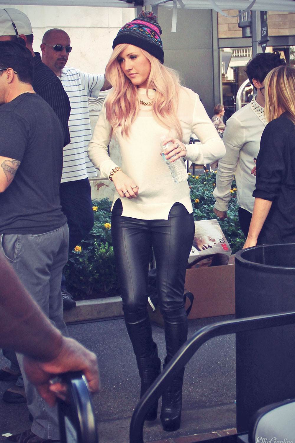 Ellie Goulding on the Set Of Extra In LA