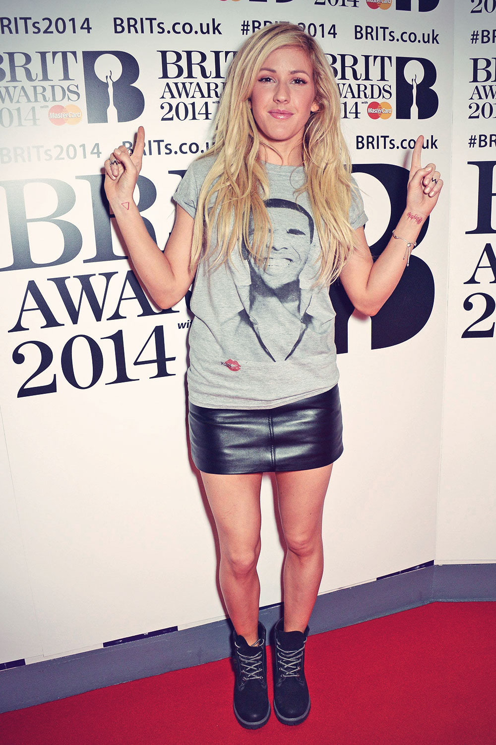 Ellie Goulding attends The BRIT Awards Rehearsals