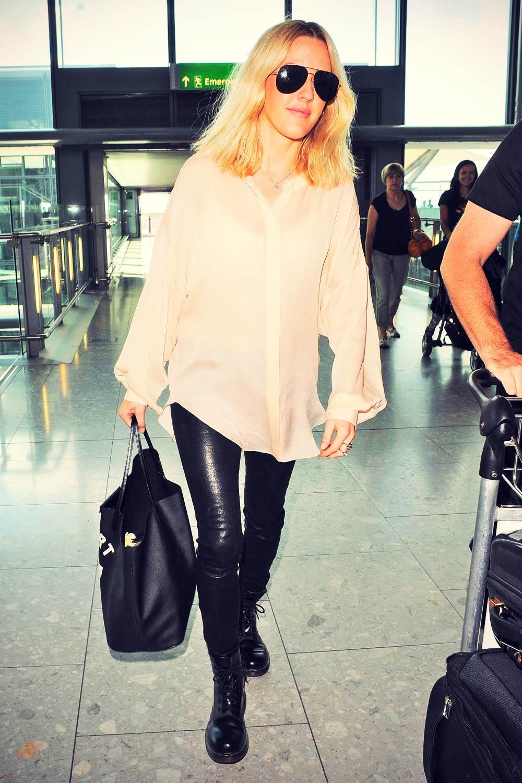 Ellie Goulding arrives at Heathrow Airport