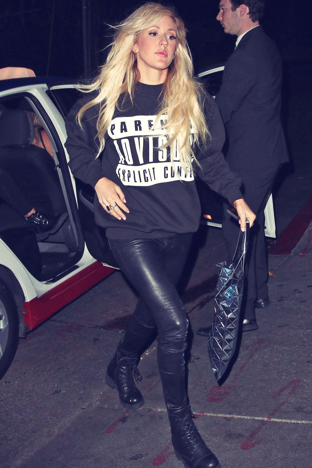 Ellie Goulding arriving at Chateau Marmont in LA