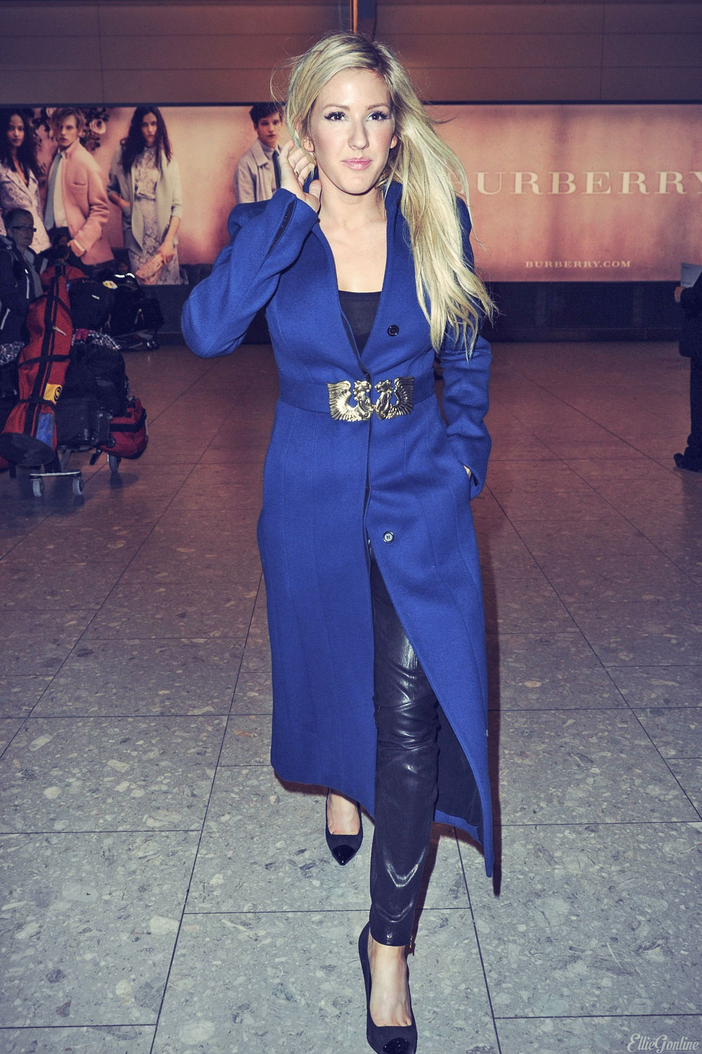 Ellie Goulding arriving at Heathrow Airport