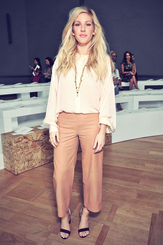 Ellie Goulding attends Chloe's Spring-Summer 2015 show in Paris