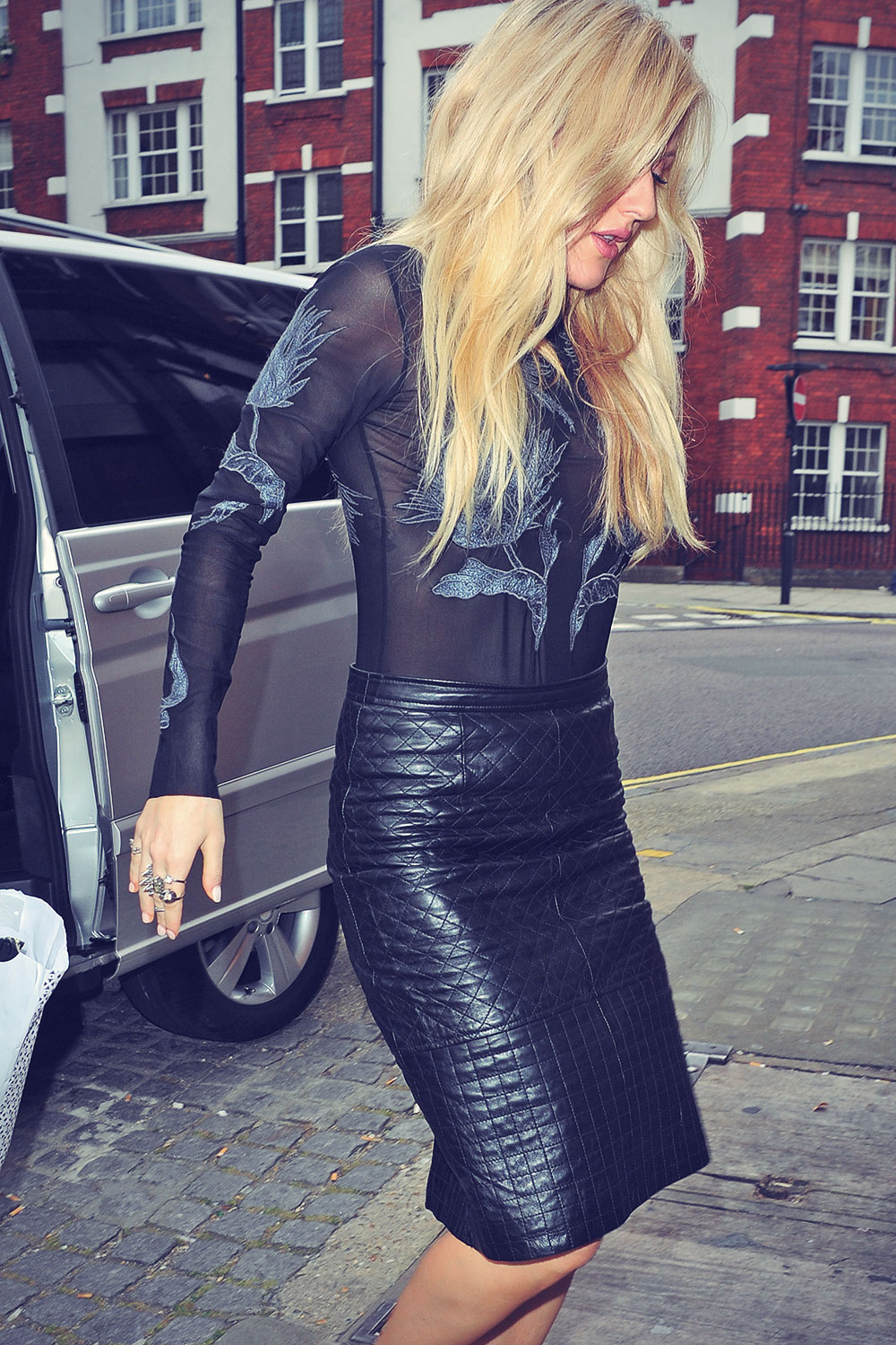 Ellie Goulding attends Topshop Unique show during London Fashion Week