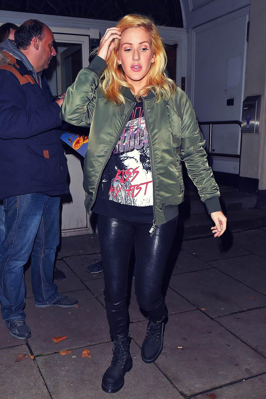 Ellie Goulding leaving BBC Radio 1 Live Lounge