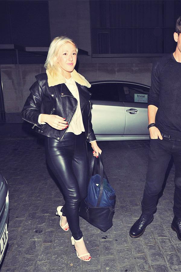 Ellie Goulding arrives at Zuma restaurant