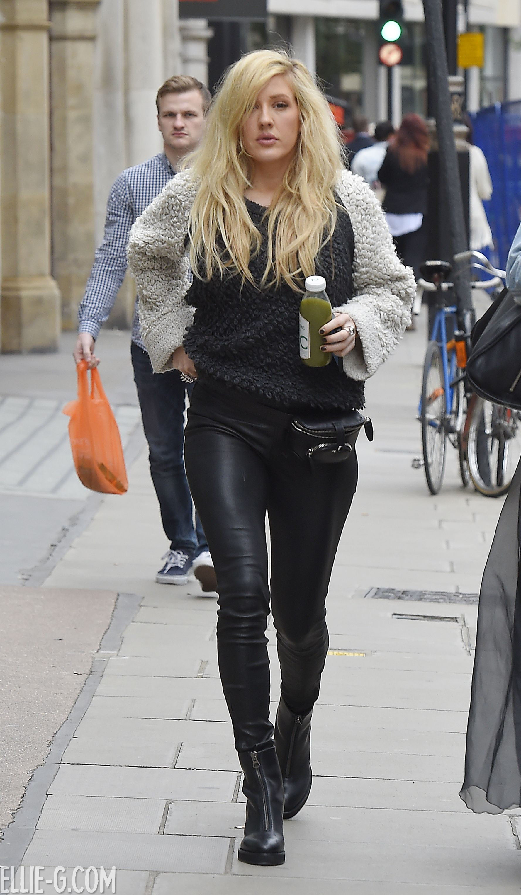 Ellie Goulding Out To Lunch With A Friend Leather