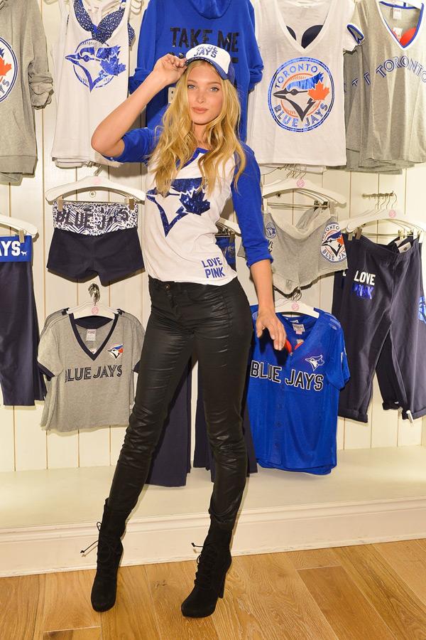 Elsa Hosk at Victoria's Secret PINK Store