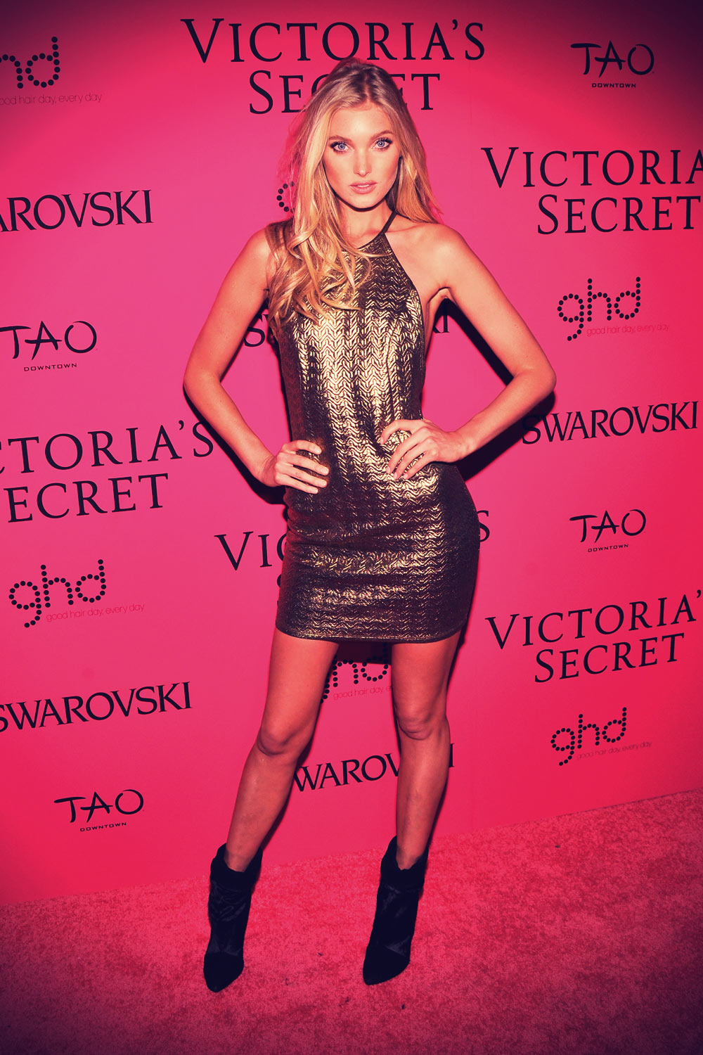 Elsa Hosk attends the after party for the 2013 Victoria's Secret Fashion Show