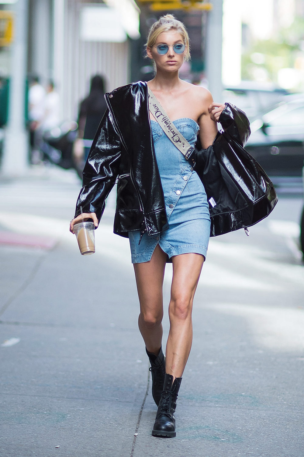 Elsa Hosk out and about in Soho