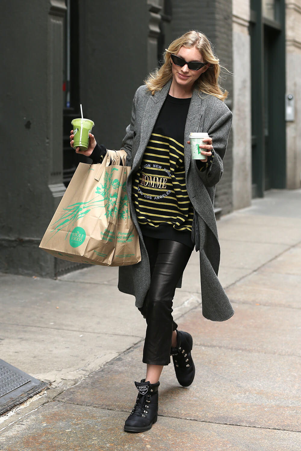 Elsa Hosk shopping at Whole Foods