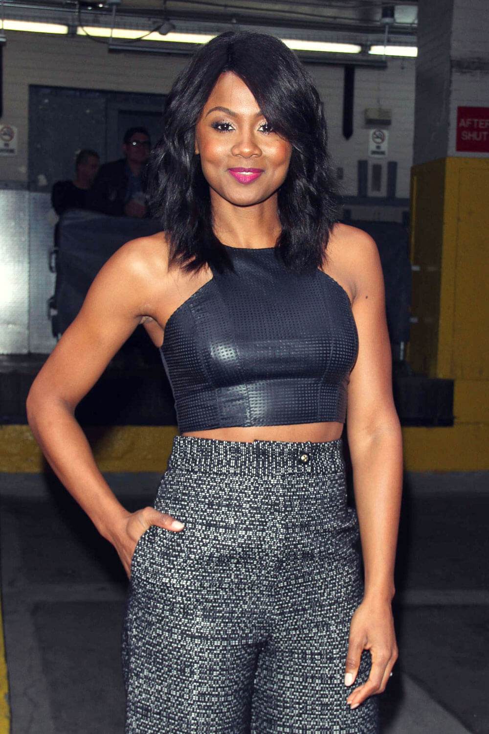 Emayatzy Corinealdi attends Promote Miles Ahead