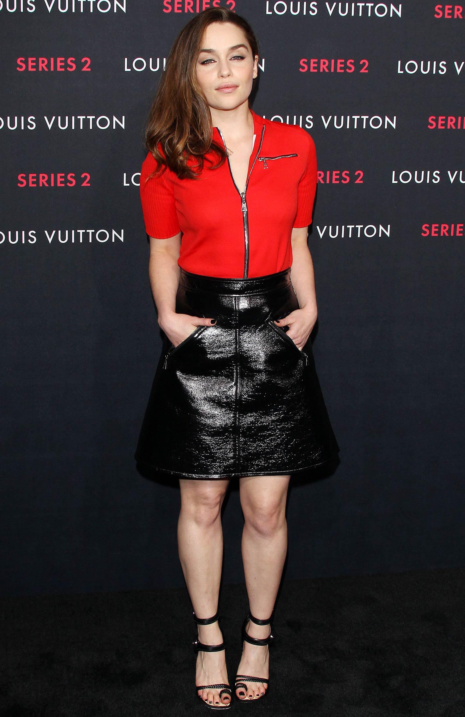 Emilia Clarke Attends Louis Vuitton Series 2 The