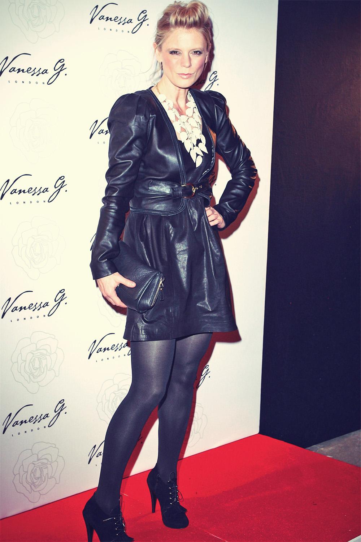 Emilia Fox leather mix