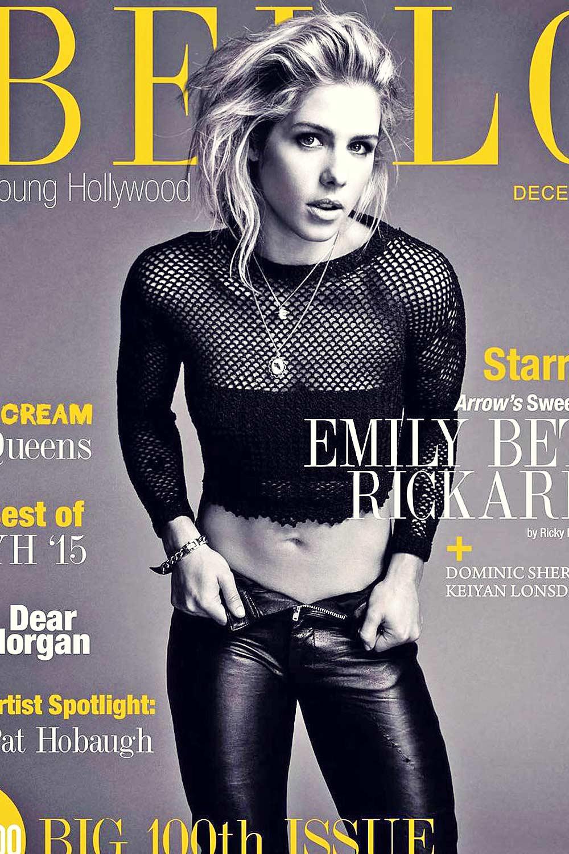 Emily Bett Rickards poses for Bello magazine