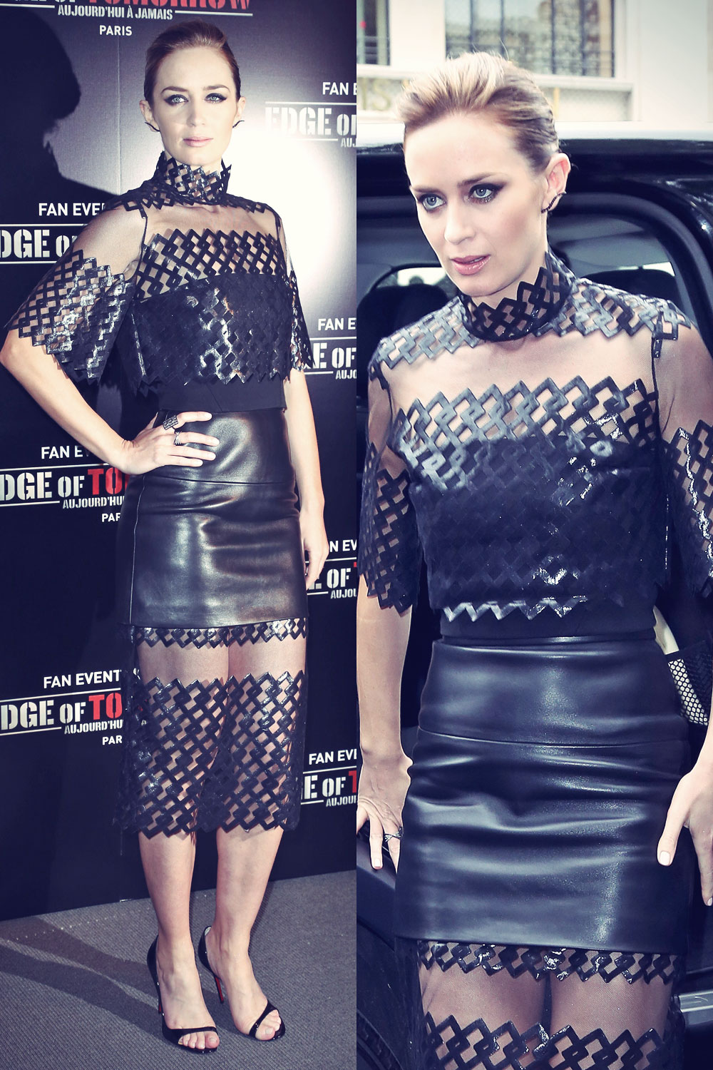 Emily Blunt attends Premiere of The Edge of Tomorrow