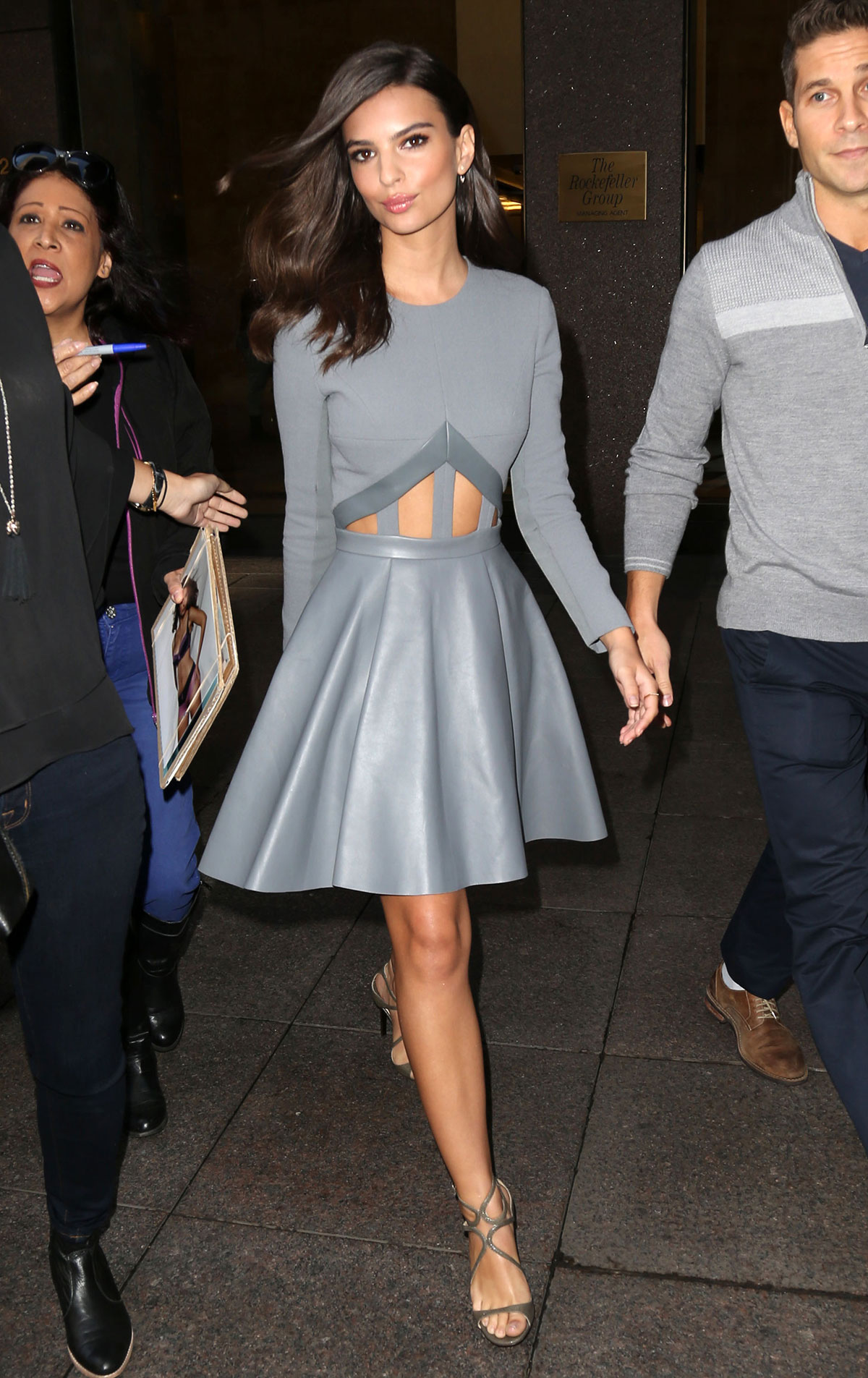 Emily Ratajkowski leaving her hotel in NYC