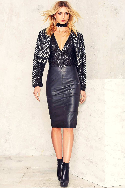 Emily Senko Photoshoot For The Nasty Gal Leather Celebrities