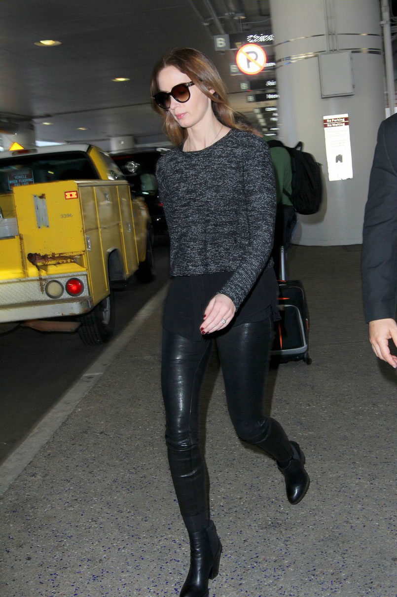 Emily Blunt at LAX Airport on Friday afternoon