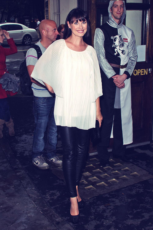 Emma Barton attends Spamalot Press Night