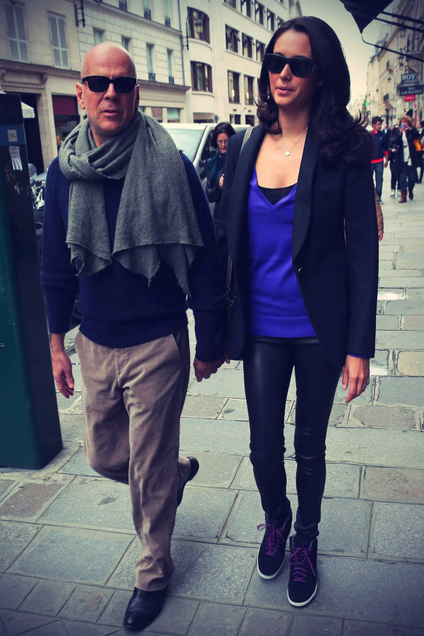 Emma Heming hand-in-hand with Bruce Willis