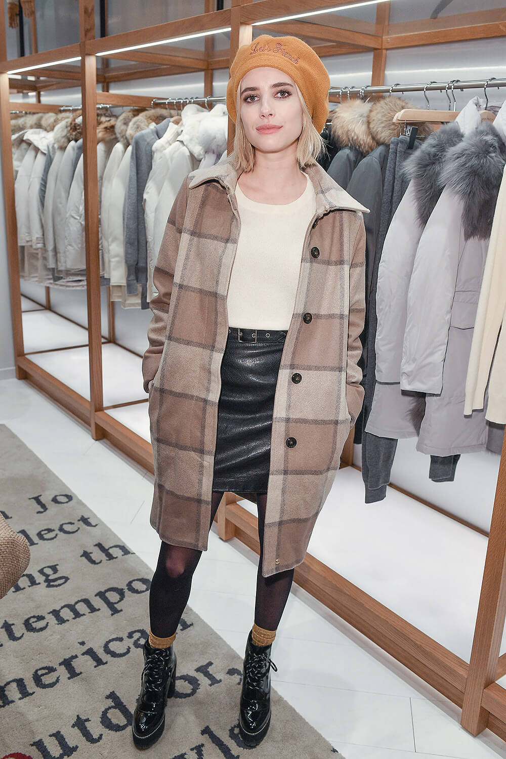 Emma Roberts attends Woolrich Yorkdale Grand Opening