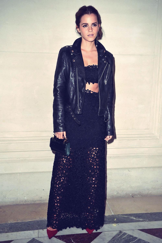 Emma Watson attends Valentino Show Haute Couture Fall Winter