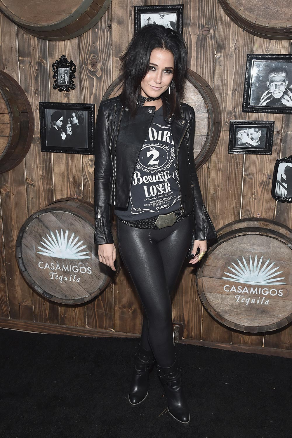 Emmanuelle Chriqui arrives to the Casamigos Halloween Party