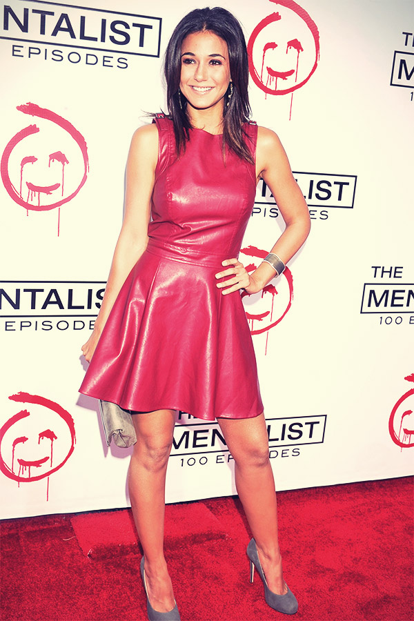 Emmanuelle Chriqui attends The Mentalist 100th Episode Celebration