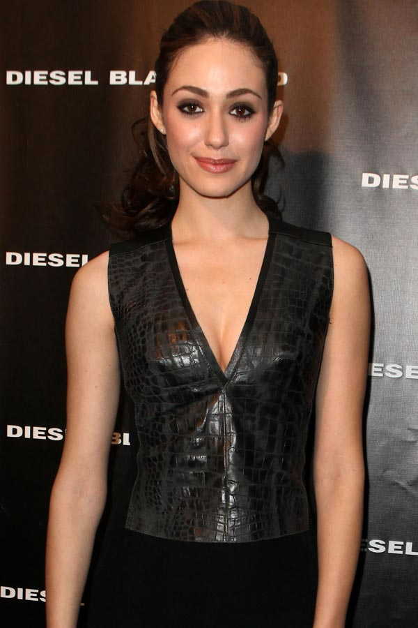 Emmy Rossum at Diesel Black Gold Fall 2012 fashion show