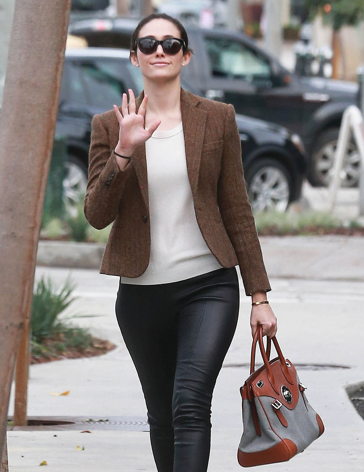 Emmy Rossum out & about in LA